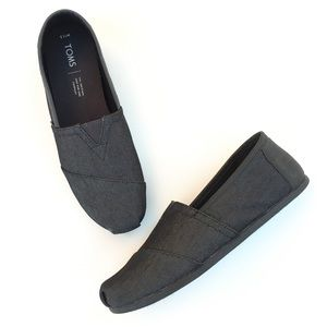 TOMS Black Heavy Denim Slip-on Shoes Men 11.5 M